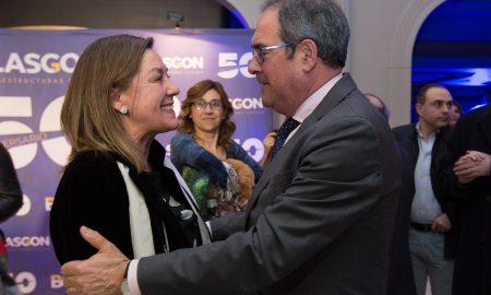 Maribel de Blas con Baudilio Fernández-Mardomingo, delegado de la JCyL en Burgos